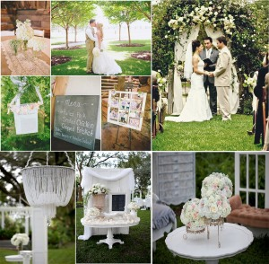 shabby chic white and green wedding inspiration UK
