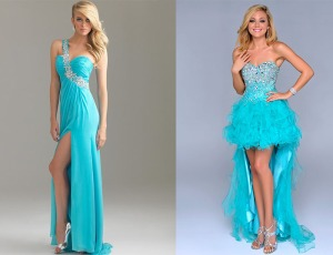 show off legs pose with slit or high low prom dress
