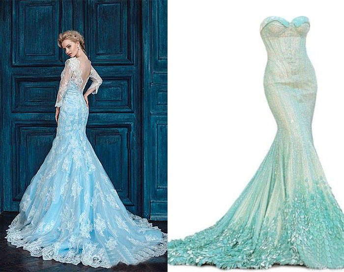Disney princess wedding dresses lianggeyuan123 for Princess mermaid wedding dresses